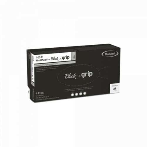 MaiMed Latex Einmal- Untersuchungshandschuhe  schwarz ungepudert 100 Stück/Box  Gr. L 1