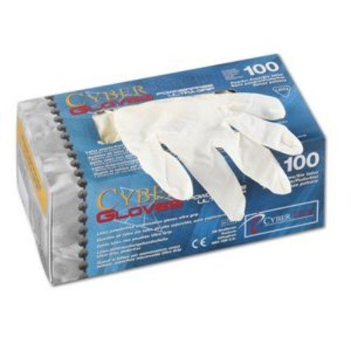 CyberTech CT Latex-Handschuhe puderfrei, Ultra Grip, Größe S, 100Stück/Box 1