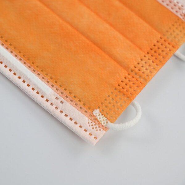 50 x Orange Mundschutz OP Nasenschutz Atemschutz Einweg  3 lagig 2