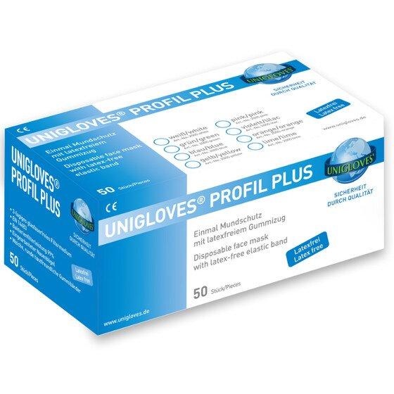 50 Stück  Unigloves Profil Plus Mundschutz Pink EN 14683 99% Filterleistung 1