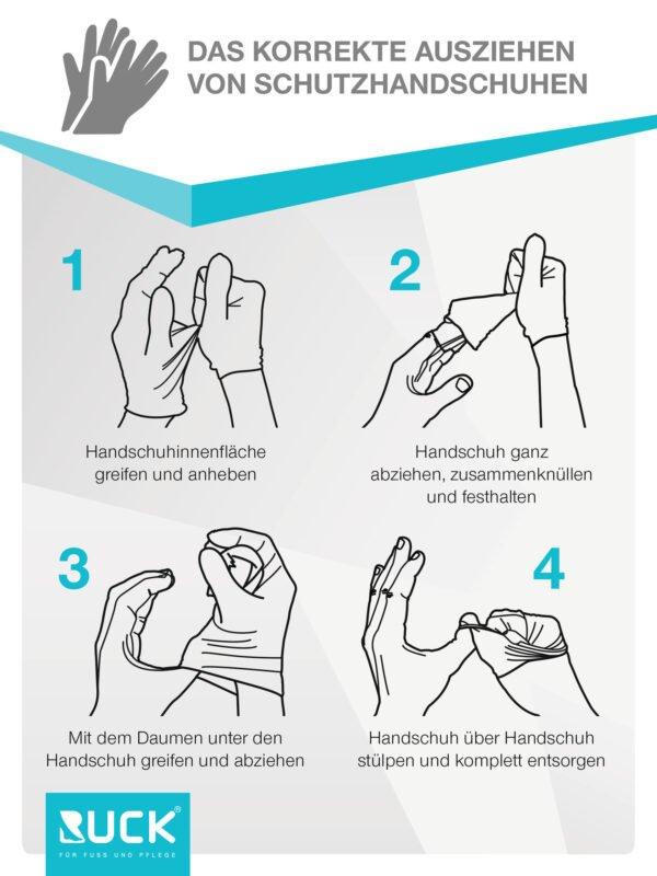 CyberTech CT Latex-Handschuhe puderfrei, Ultra Grip, Größe S, 100Stück/Box 2