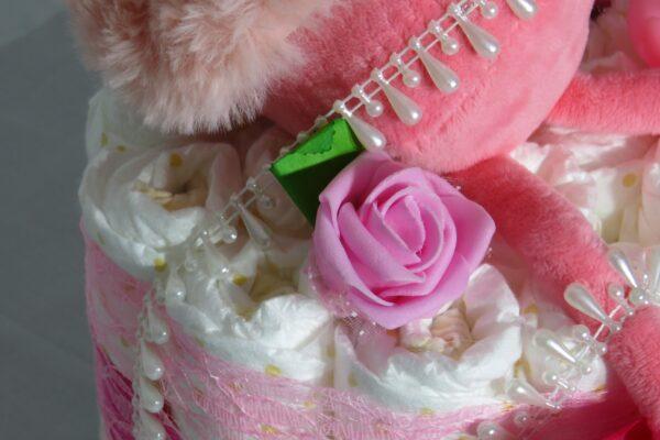 """Windeltorte Gr. M """"Flamingo Cupcake"""" Mädchen Einzelstück One-of-One 7"""