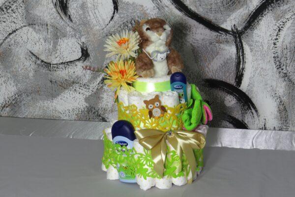 Windeltorte Gr. L  Eichhörnchen  neutral Junge oder Mädchen  Unikat  One-of-One 1