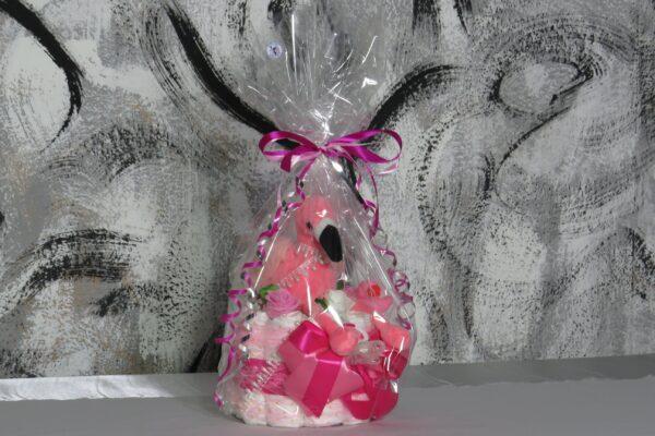 """Windeltorte Gr. M """"Flamingo Cupcake"""" Mädchen Einzelstück One-of-One 11"""