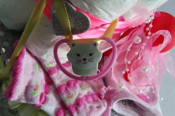"Windeltorte ""Little Princess"" rosa, Mädchen, Unikat, Einzelstück 9"