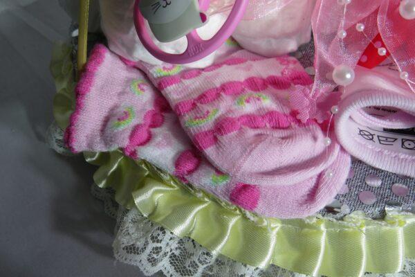 "Windeltorte ""Little Princess"" rosa, Mädchen, Unikat, Einzelstück 5"