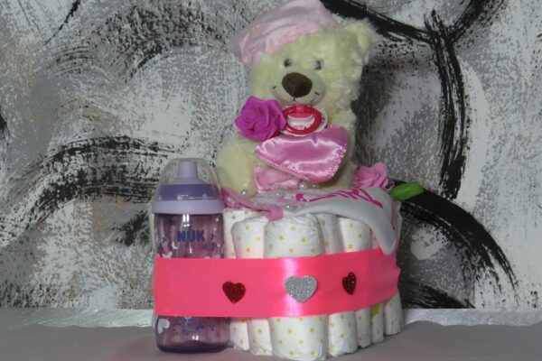 "Windeltorte ""Sweet Dreams""  rosa/pink, Mädchen, Unikat, Einzelstück 1"