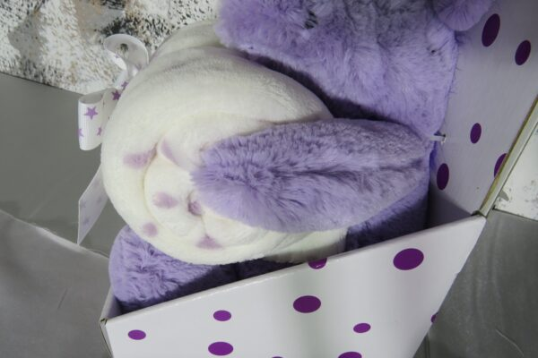 Plüsch Einhorn mit Fleecedecke, lila in Geschenkpackung 3