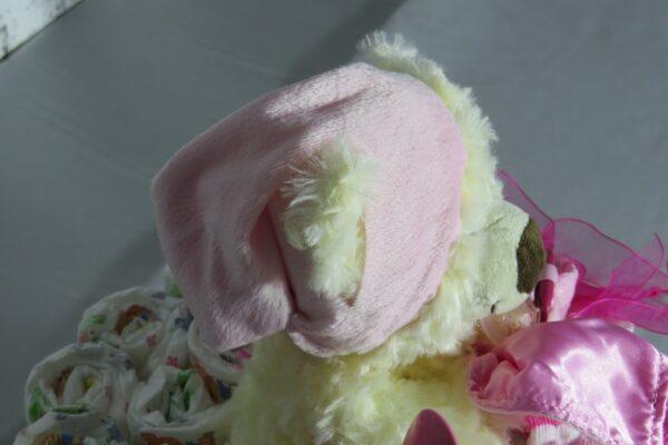 """Windeltorte Cupcake """" Pinky"""" mit Schlafteddy rosa 32-teilig 9"""