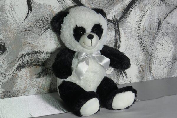 """Kuscheltier superweich """"Pandabär"""" mit weißer Satin-Schleife,  ca. 50cm 1"""