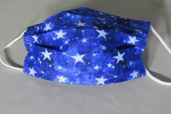 """5 x  Design Mundschutz """"blue Stars"""" Nasenschutz Atemschutz Einweg  3 lagig 1"""