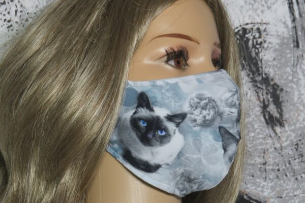 "Alltagsmaske Modell ""Skyline Katzenmaske"" 1"