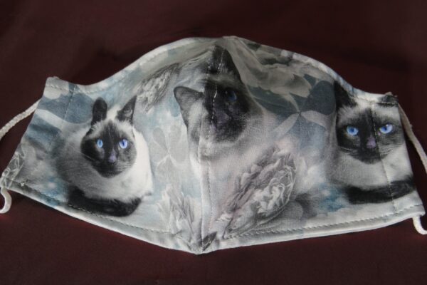 "Alltagsmaske Modell ""Skyline Katzenmaske"" 2"