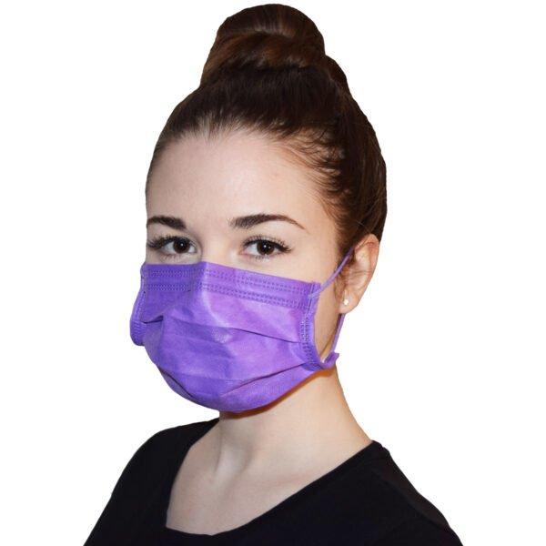 50 Stück Nitras Soft Protect Plus OP Mundschutz  Lavendel  EN 14683 TYP II R  (Stück/0,59€) 2
