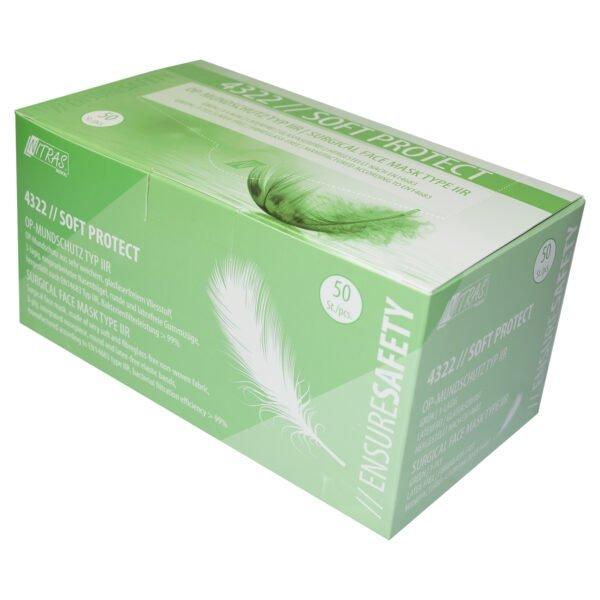 50 Stück Nitras Soft Protect OP Mundschutz grün EN 14683 TYP II R 1