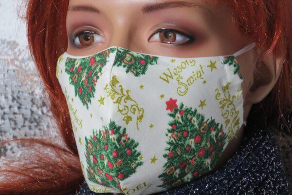 """Alltagsmaske Modell """"Weihnachtsbaum"""" 5"""