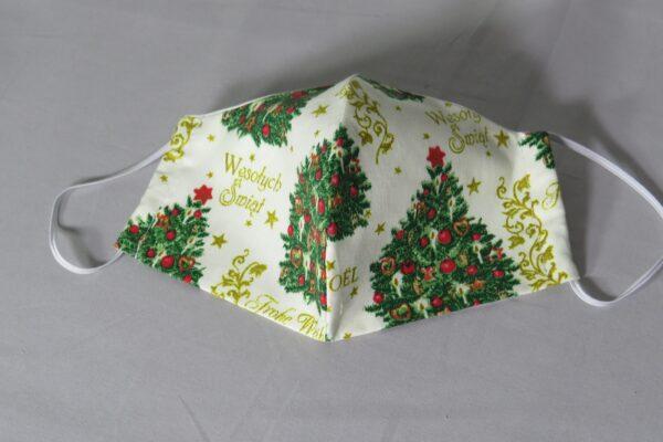 """Alltagsmaske Modell """"Weihnachtsbaum"""" 2"""