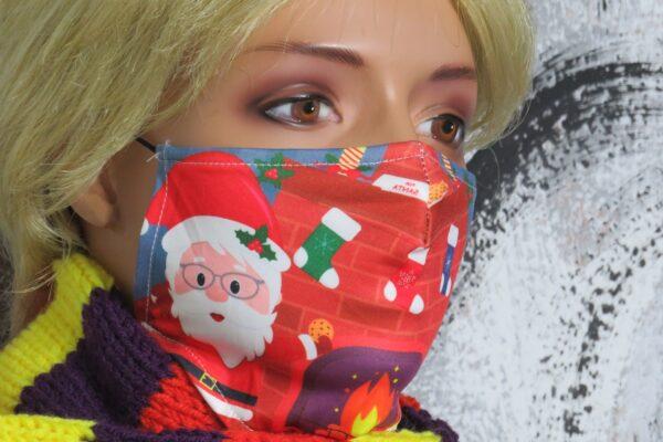 """Alltagsmaske Modell """"Weihnachtsmann 2"""" 1"""