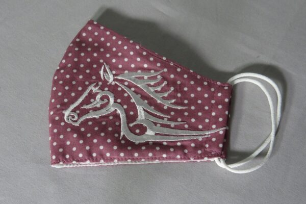"Alltagsmaske Modell ""Skyline weißes Pferd 2"" 5"
