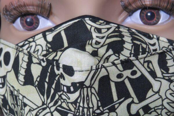 """Alltagsmaske Modell """"Gloria Skelett"""" 6"""