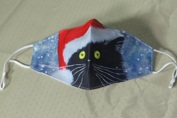 """Alltagsmaske Modell """"Christmas Cat"""" 2"""