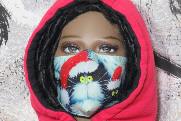 """Alltagsmaske Modell """"Christmas Cat 2"""" 1"""
