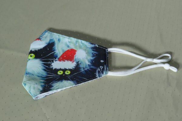 """Alltagsmaske Modell """"Christmas Cat 2"""" 4"""