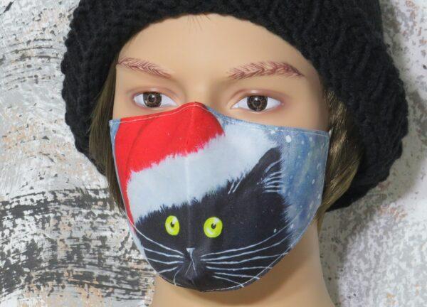 """Alltagsmaske Modell """"Christmas Cat"""" 1"""