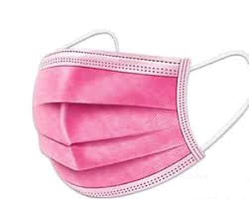 25 x pink / 25 x schwarzer Mundschutz OP Nasenschutz Atemschutz Einweg  3 lagig  (Stück/0,59€) 2
