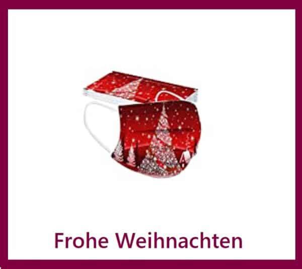 """5 x Design Mundschutz Design:  """"Weihnachten-1""""  Einweg  3-lagig 1"""