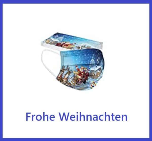 """5 x Design Mundschutz Design:  """"Weihnachten-2""""  Einweg  3-lagig 1"""