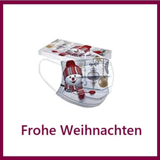 """5 x Design Mundschutz Design:  """"Weihnachten-4""""  Einweg  3-lagig 1"""