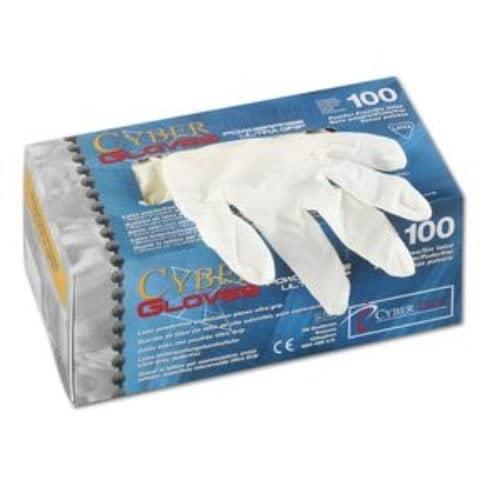 CyberTech CT Latex-Handschuhe puderfrei, Ultra Grip, Größe XL, 100Stück/Box 1