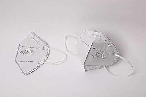 1 Stück FFP2 Maske, Atemschutzmaske, Partikelfiltermaske, EU CE Zertifiziert CE2834, WEIß 3