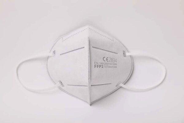 1 Stück FFP2 Maske, Atemschutzmaske, Partikelfiltermaske, EU CE Zertifiziert CE2834, WEIß 1