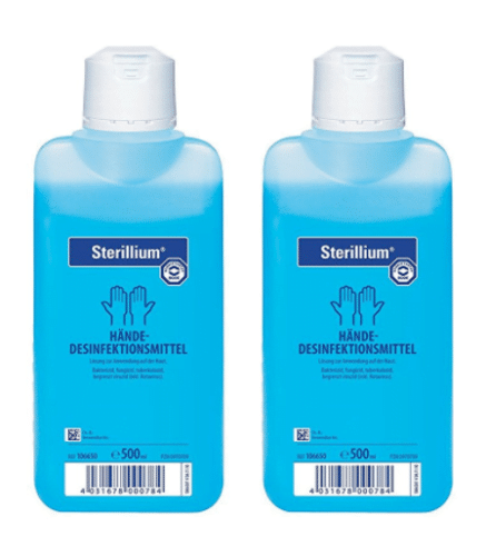 2 x 500 ml  Bode * Sterillium *  Händedesinfektion, Desinfektionsmittel(26,90/L) 1