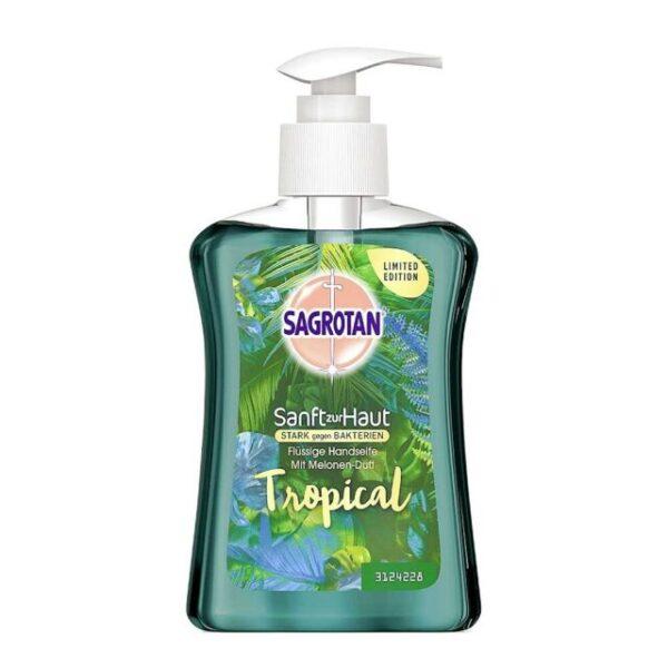 Sagrotan Sanft zur Haut, Handseife, Tropical, 250 ml, Limited Edition, Melonen-Duft 1