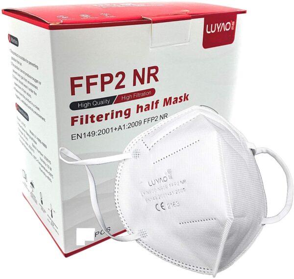 1 Stück FFP2 Maske, Atemschutzmaske, Partikelfiltermaske, EU CE Zertifiziert CE 2163, WEIß 1