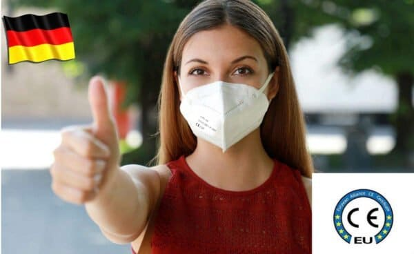 Doppelpack FFP2 Maske, Atemschutzmaske, Partikelfiltermaske, EU CE Zertifiziert CE2163 WEIß 4