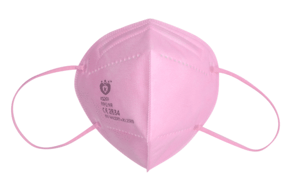 1 x Doppelpack FFP2 NR Schutzmaske, ROSA, 5-lagig, Atemschutzmaske FFP2 CE 2834 2