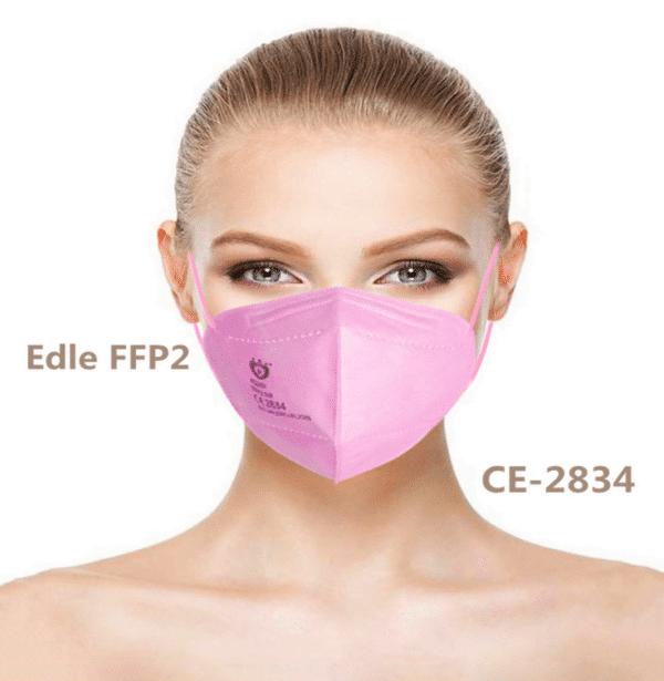 1 x Doppelpack FFP2 NR Schutzmaske, ROSA, 5-lagig, Atemschutzmaske FFP2 CE 2834 1
