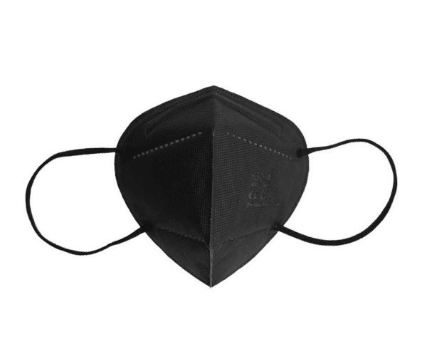 10 er Pack FFP2 NR Schutzmaske, SCHWARZ, 5-lagig, Atemschutzmaske FFP2 CE 2834 1