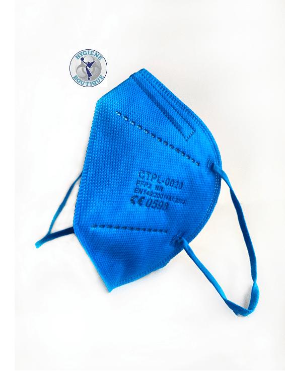 1 x FFP2 NR Schutzmaske, Blau, 5-lagig, Atemschutzmaske CE 0598 1