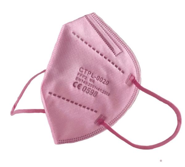 1 x FFP2 NR Schutzmaske, ROSA, 5-lagig, Atemschutzmaske FFP2 CE 0598 7