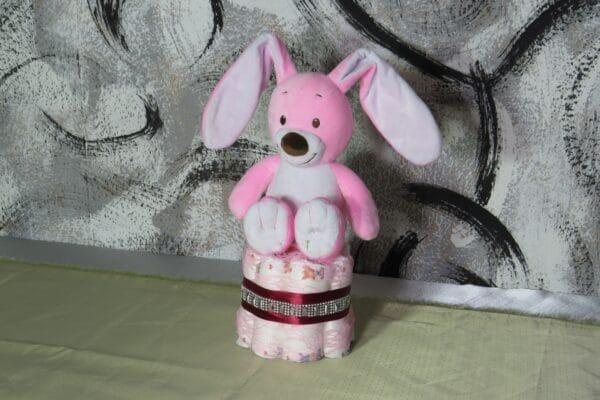 Cupcake pink Rabbit - Spieluhr Windeltorte-28022021-2 1