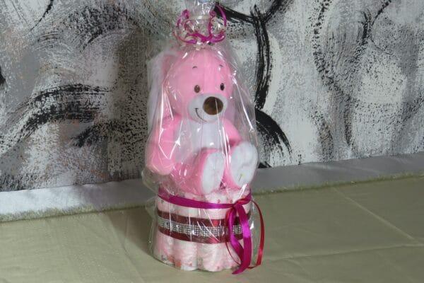 Cupcake pink Rabbit - Spieluhr Windeltorte-28022021-2 5