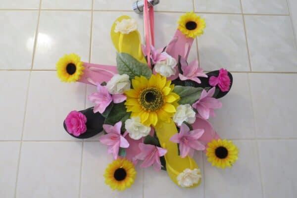 Badezimmer Blumen Arrangement 1