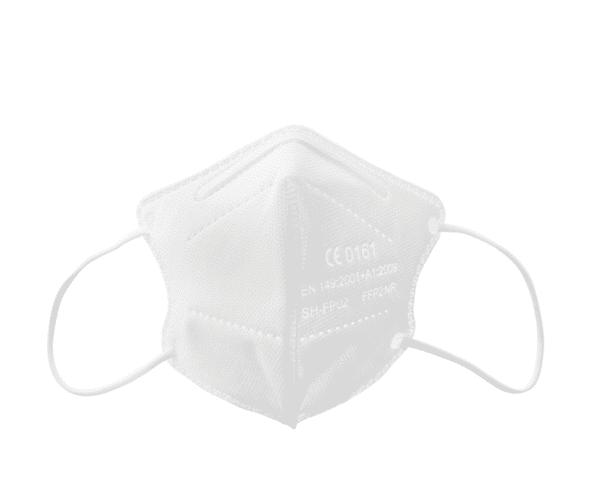 10er Box FFP2 KINDER Maske, Atemschutzmaske, Partikelfiltermaske, EU CE Zertifiziert CE 0161 WEIß 4