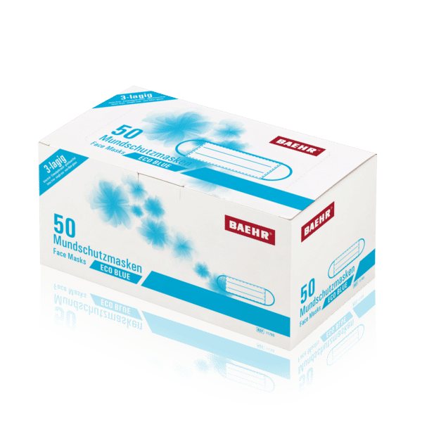 Mundschutzmaske ECO BLUE 1 Pack (50 Stück) EN 14683 Typ II 1