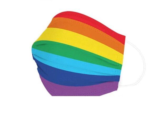 """5 Stück Design Mundschutz """"Regenbogen - Pride"""" Einweg 3 lagig 1"""